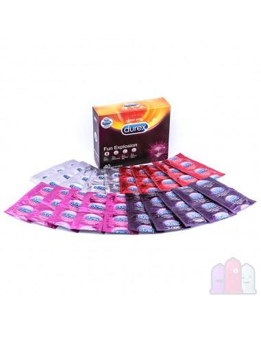 Durex Fun Explosion kondomer 40 st.