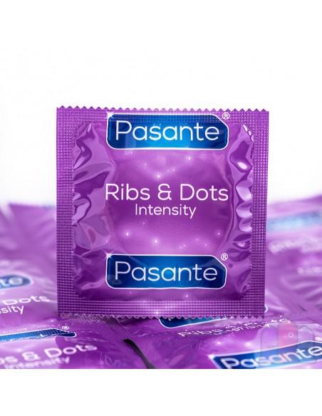 Pasante Intensity Ribs & Dots Kondome